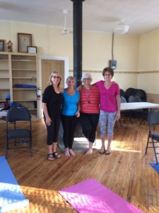 Yoga Ladies of Group at Crow Lake